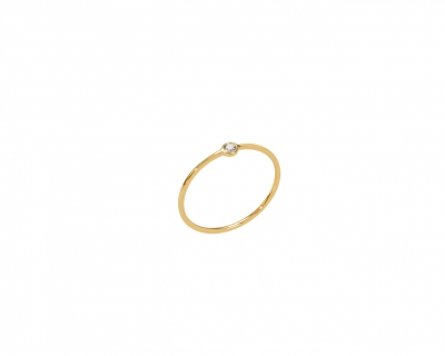 MEMORY RING DIAMANT OR JAUNE