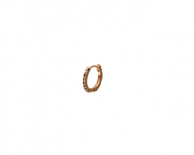 PINK GOLD BROWN DIAMOND HOOP