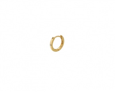 GOLD HOOP 1 DIAMOND
