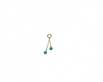 2 chains turquoises charm
