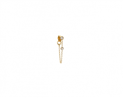 Chain diamonds earring