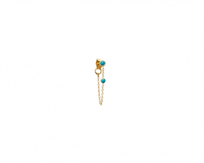 Chain turquoises earring
