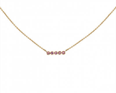 Collier Sand Pink Saphirs