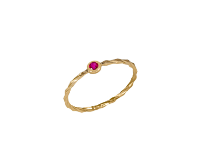 Bague Twist Ruby