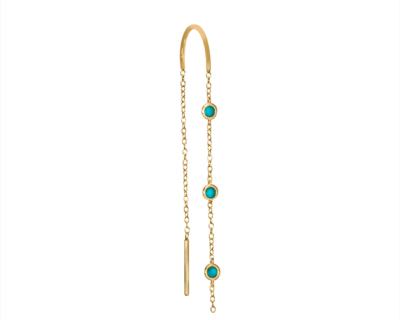 BO CHAINE DROP LARGE TURQUOISES